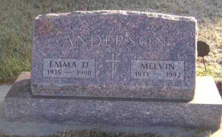 ANDERSON, EMMA D - Moody County, South Dakota | EMMA D ANDERSON - South Dakota Gravestone Photos