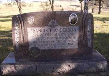 ANDERSON, FRANCES F - Moody County, South Dakota   FRANCES F ANDERSON - South Dakota Gravestone Photos