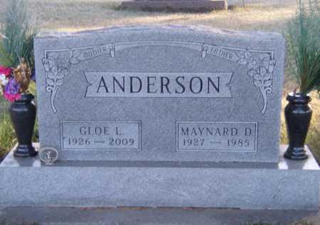 ANDERSON, MAYNARD D - Moody County, South Dakota | MAYNARD D ANDERSON - South Dakota Gravestone Photos