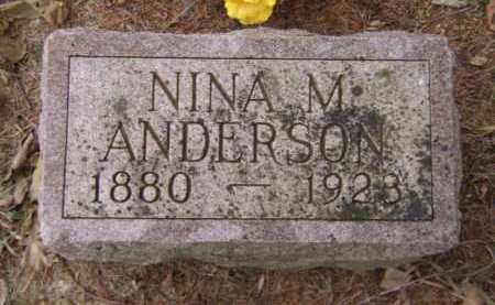 ANDERSON, NINA M - Moody County, South Dakota | NINA M ANDERSON - South Dakota Gravestone Photos