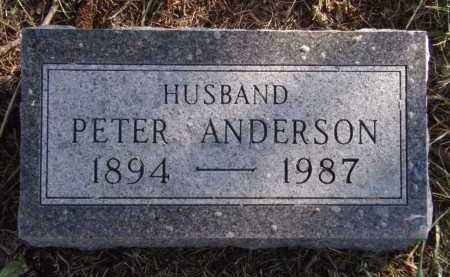 ANDERSON, PETER - Moody County, South Dakota | PETER ANDERSON - South Dakota Gravestone Photos