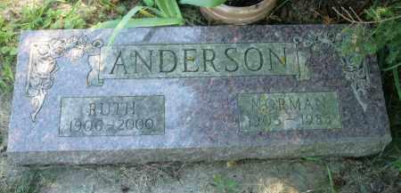 ANDERSON, NORMAN - Moody County, South Dakota | NORMAN ANDERSON - South Dakota Gravestone Photos