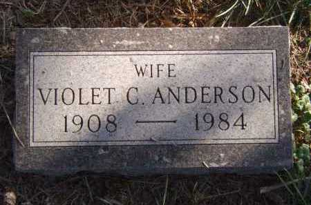ANDERSON, VIOLET C - Moody County, South Dakota | VIOLET C ANDERSON - South Dakota Gravestone Photos
