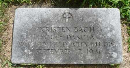 BACH, KRISTEN - Moody County, South Dakota | KRISTEN BACH - South Dakota Gravestone Photos