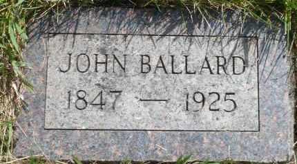 BALLARD, JOHN - Moody County, South Dakota   JOHN BALLARD - South Dakota Gravestone Photos