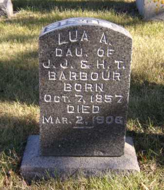 BARBOUR, LUA A (LOU) - Moody County, South Dakota | LUA A (LOU) BARBOUR - South Dakota Gravestone Photos