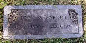 BARNES, BERT W - Moody County, South Dakota | BERT W BARNES - South Dakota Gravestone Photos