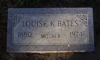 BATES, LOUISE K - Moody County, South Dakota   LOUISE K BATES - South Dakota Gravestone Photos