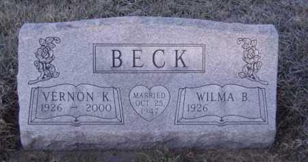 BECK, VERNON K - Moody County, South Dakota | VERNON K BECK - South Dakota Gravestone Photos