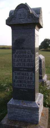 BJORGAN, THOMAS J - Moody County, South Dakota   THOMAS J BJORGAN - South Dakota Gravestone Photos