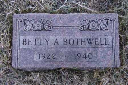 BOTHWELL, BETTY A - Moody County, South Dakota | BETTY A BOTHWELL - South Dakota Gravestone Photos