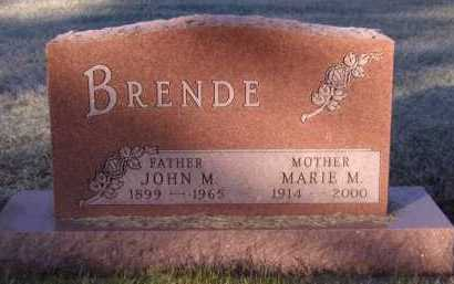 BRENDE, MARIE M - Moody County, South Dakota | MARIE M BRENDE - South Dakota Gravestone Photos