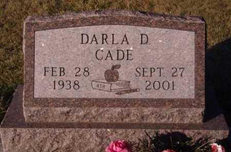 CADE, DARLA D - Moody County, South Dakota | DARLA D CADE - South Dakota Gravestone Photos