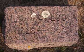 CARLSON, J M - Moody County, South Dakota   J M CARLSON - South Dakota Gravestone Photos