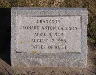 CARLSON, LEONARD ANTON - Moody County, South Dakota   LEONARD ANTON CARLSON - South Dakota Gravestone Photos