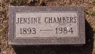 CHAMBERS, JENSINE - Moody County, South Dakota | JENSINE CHAMBERS - South Dakota Gravestone Photos