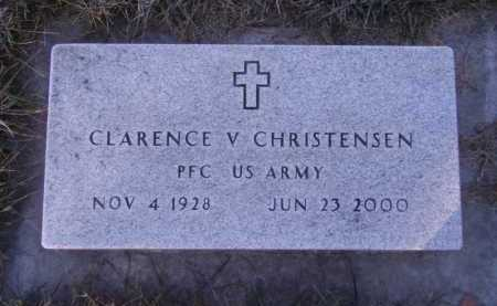 CHRISTENSEN, CLARENCE V - Moody County, South Dakota | CLARENCE V CHRISTENSEN - South Dakota Gravestone Photos