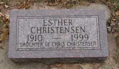 CHRISTENSEN, ESTHER - Moody County, South Dakota   ESTHER CHRISTENSEN - South Dakota Gravestone Photos