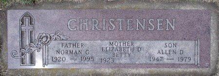 "CHRISTENSEN, ELIZABETH D. ""BETTY"" - Moody County, South Dakota | ELIZABETH D. ""BETTY"" CHRISTENSEN - South Dakota Gravestone Photos"