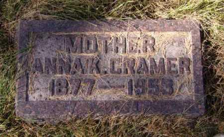 CRAMER, ANNA K - Moody County, South Dakota | ANNA K CRAMER - South Dakota Gravestone Photos