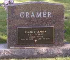 CRAMER, CLARK D (BACK) - Moody County, South Dakota   CLARK D (BACK) CRAMER - South Dakota Gravestone Photos