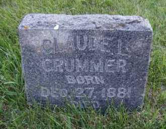 CRUMMER, CLAUDE L - Moody County, South Dakota | CLAUDE L CRUMMER - South Dakota Gravestone Photos