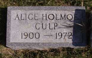 HOLMOE CULP, ALICE - Moody County, South Dakota | ALICE HOLMOE CULP - South Dakota Gravestone Photos