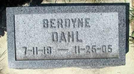 DAHL, BERDYNE ALICE - Moody County, South Dakota | BERDYNE ALICE DAHL - South Dakota Gravestone Photos