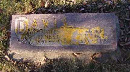 DAVIS, ERNEST C - Moody County, South Dakota | ERNEST C DAVIS - South Dakota Gravestone Photos