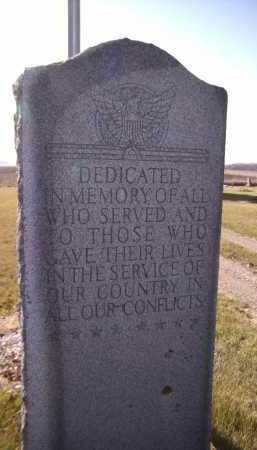 *DEDICATION, MILITARY - Moody County, South Dakota | MILITARY *DEDICATION - South Dakota Gravestone Photos