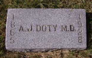 DOTY, A J, MD - Moody County, South Dakota | A J, MD DOTY - South Dakota Gravestone Photos