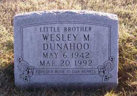 DUNAHOO, WESLEY M - Moody County, South Dakota | WESLEY M DUNAHOO - South Dakota Gravestone Photos