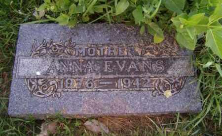 EVANS, ANNA - Moody County, South Dakota | ANNA EVANS - South Dakota Gravestone Photos