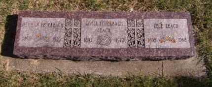 LEACH, ETHEL FEUERBACH - Moody County, South Dakota | ETHEL FEUERBACH LEACH - South Dakota Gravestone Photos