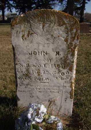 FISH, JOHN N - Moody County, South Dakota | JOHN N FISH - South Dakota Gravestone Photos