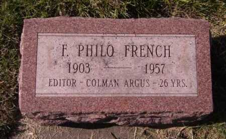 FRENCH, F PHILO - Moody County, South Dakota | F PHILO FRENCH - South Dakota Gravestone Photos