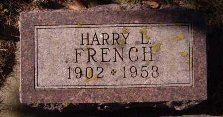 FRENCH, HARRY L. - Moody County, South Dakota   HARRY L. FRENCH - South Dakota Gravestone Photos
