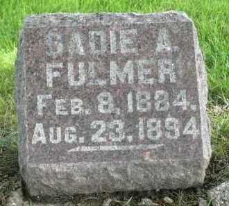 FULMER, SADIE A. - Moody County, South Dakota | SADIE A. FULMER - South Dakota Gravestone Photos