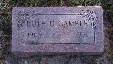 GAMBLE, RUTH D - Moody County, South Dakota | RUTH D GAMBLE - South Dakota Gravestone Photos