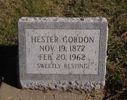 GORDON, HESTER - Moody County, South Dakota | HESTER GORDON - South Dakota Gravestone Photos
