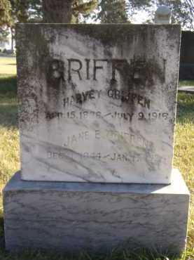 GRIFFEN, HARVEY - Moody County, South Dakota | HARVEY GRIFFEN - South Dakota Gravestone Photos