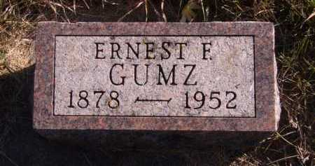 GUMZ, ERNEST F - Moody County, South Dakota | ERNEST F GUMZ - South Dakota Gravestone Photos