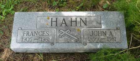 HAHN, FRANCES - Moody County, South Dakota | FRANCES HAHN - South Dakota Gravestone Photos