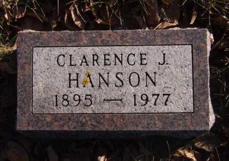 HANSON, CLARENCE J - Moody County, South Dakota   CLARENCE J HANSON - South Dakota Gravestone Photos