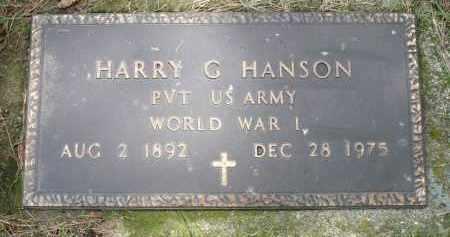 HANSON, HARRY G. - Moody County, South Dakota | HARRY G. HANSON - South Dakota Gravestone Photos