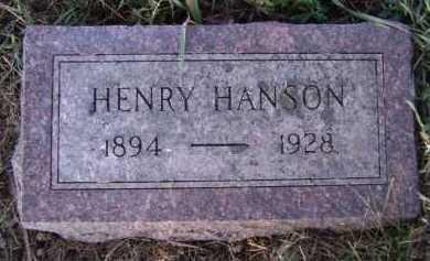 HANSON, HENRY - Moody County, South Dakota   HENRY HANSON - South Dakota Gravestone Photos