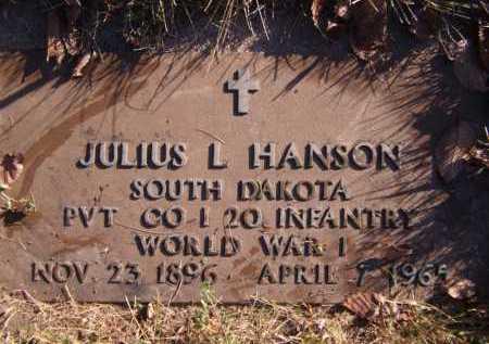 HANSON, JULIUS L - Moody County, South Dakota   JULIUS L HANSON - South Dakota Gravestone Photos