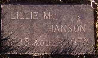 HANSON, LILLIE M - Moody County, South Dakota | LILLIE M HANSON - South Dakota Gravestone Photos