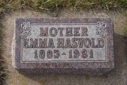 HASVOLD, EMMA - Moody County, South Dakota   EMMA HASVOLD - South Dakota Gravestone Photos