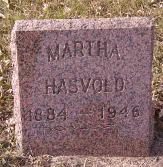 HASVOLD, MARTHA - Moody County, South Dakota   MARTHA HASVOLD - South Dakota Gravestone Photos